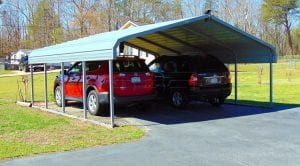 carport with two cars